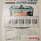 1956 Norge Super Rinse Washer ad