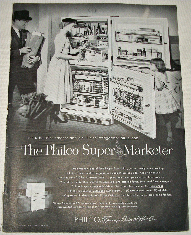 1956 Philco Super Marketer Refrigerator ad