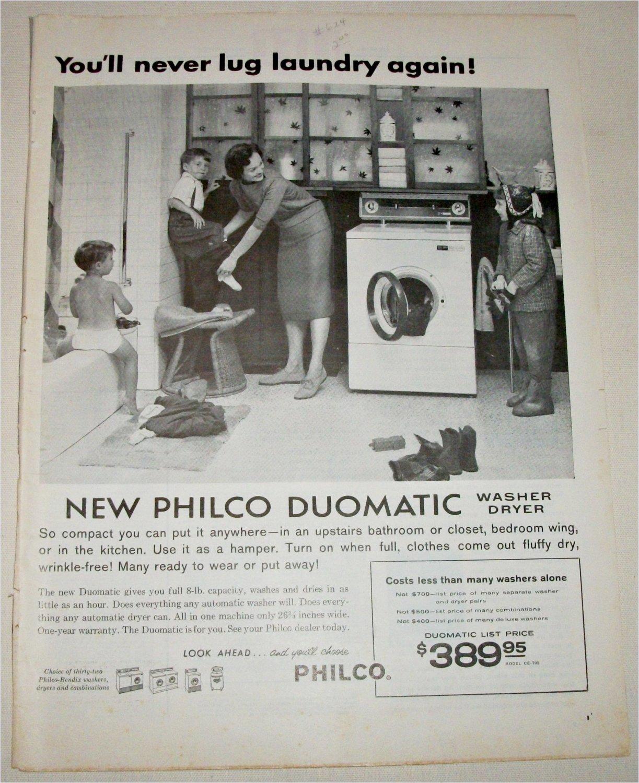 1959 Philco Duomatic Washer Dryer ad