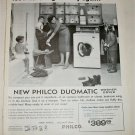 1959 Philco Duomatic Washer Dryer ad