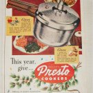 1951 Presto Cookers Christmas ad