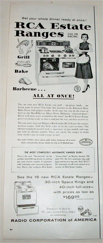 1955 RCA Estate Ranges ad
