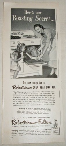 1951 Robertshaw-Fulton Ranges ad