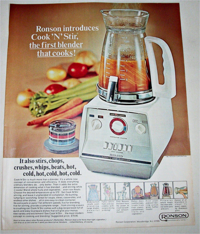 1966 Ronson Cook' N' Stir Blender ad