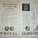 1922 Royal Electric Vacuum Cleaner ad
