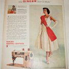 1957 Singer Slant-O-Matic Sewing Machine ad