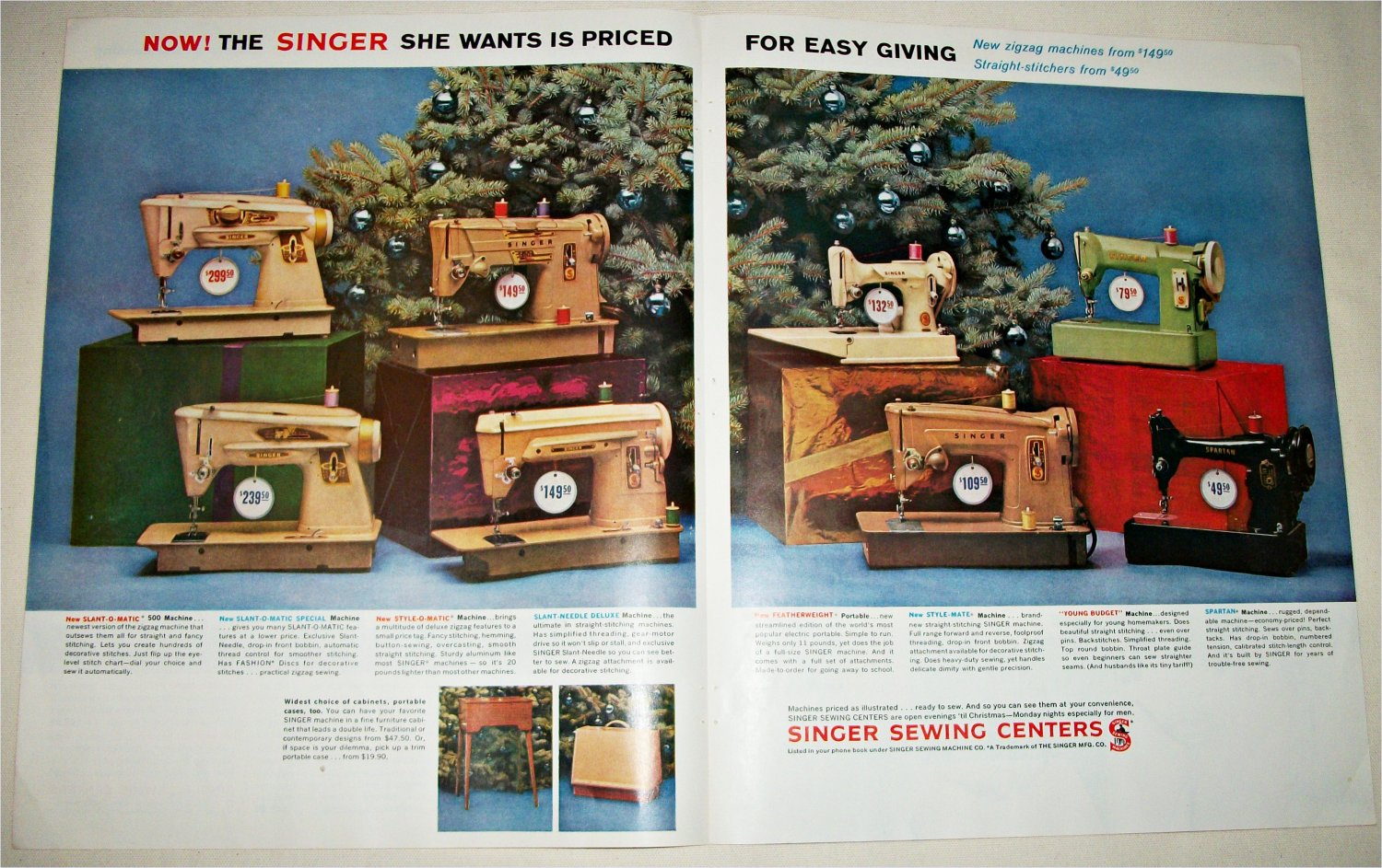 Singer Sewing Machines Christmas ad
