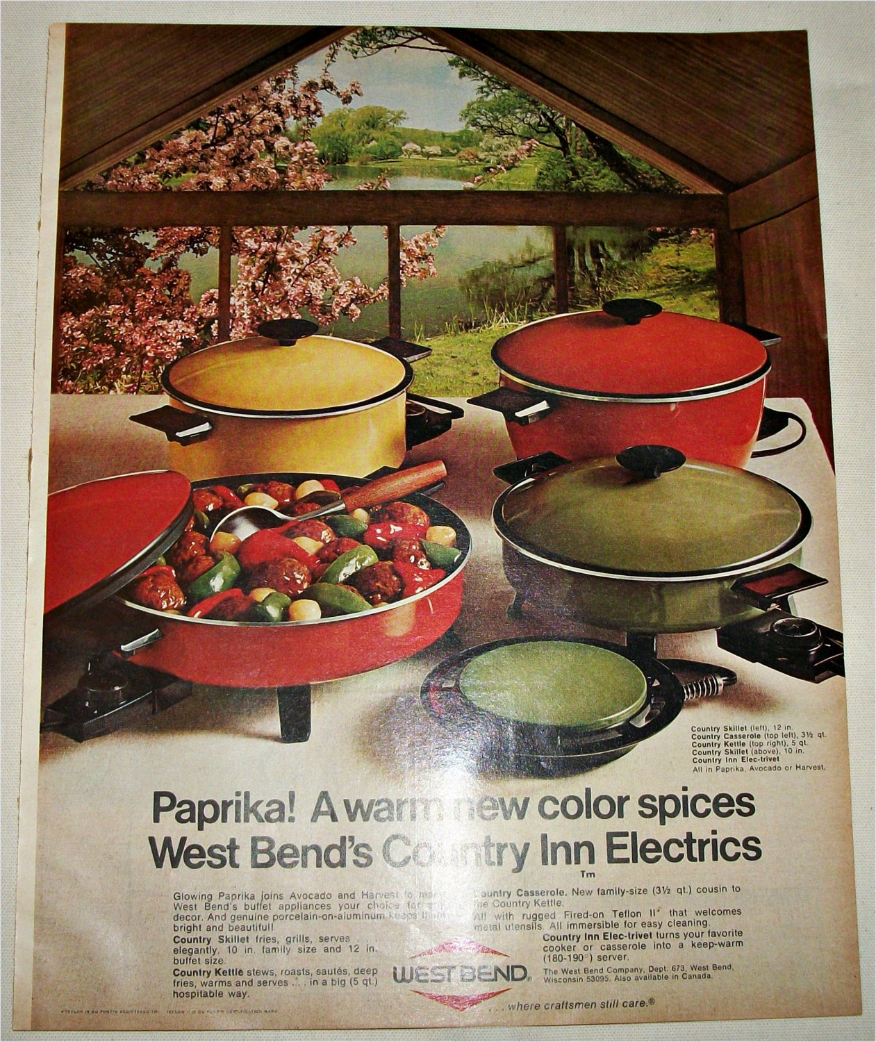 1970 West Bend Country Inn Electrics ad