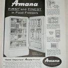 1958 Amana Model 19 Refrigerator ad