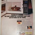 1986 Corning Visions Cookware ad