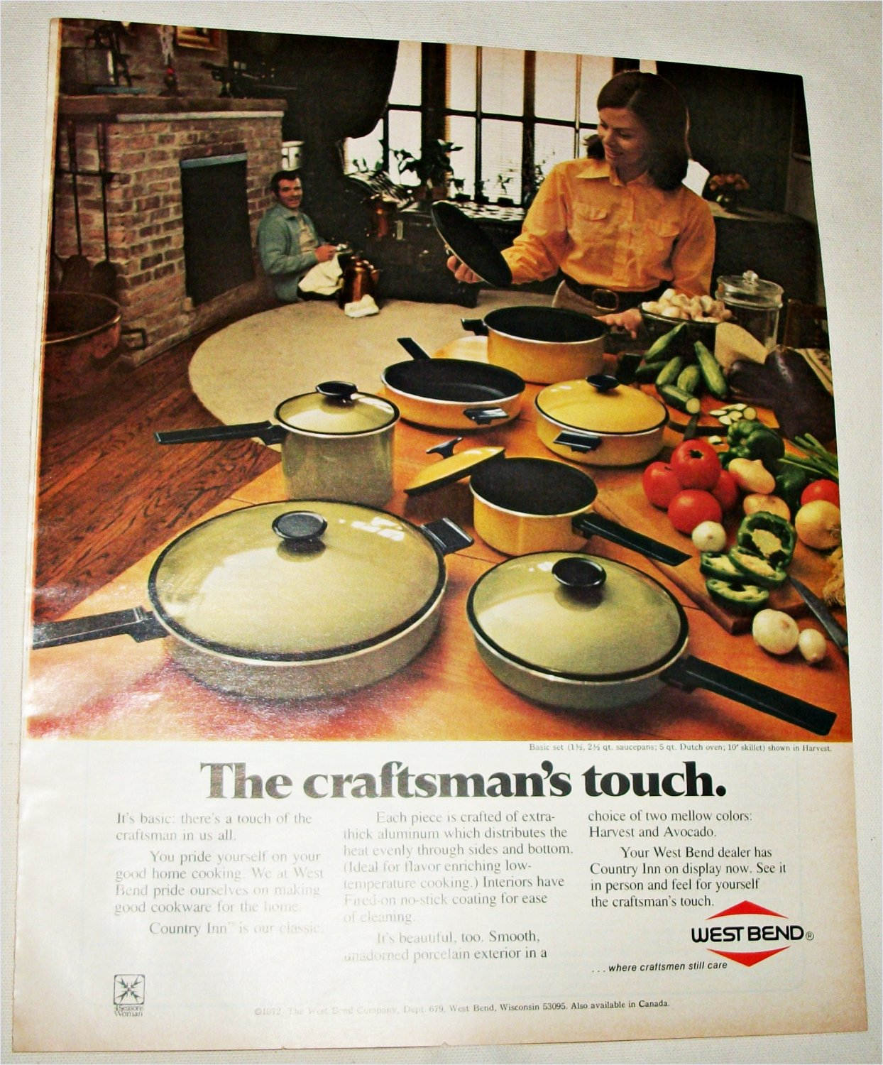 1972 West Bend Country Inn Cookware ad