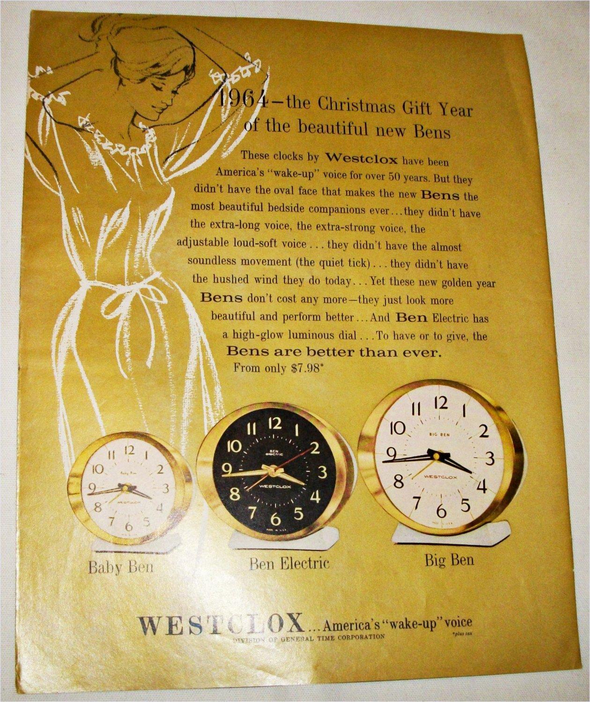 1964 Westclox Bens ad