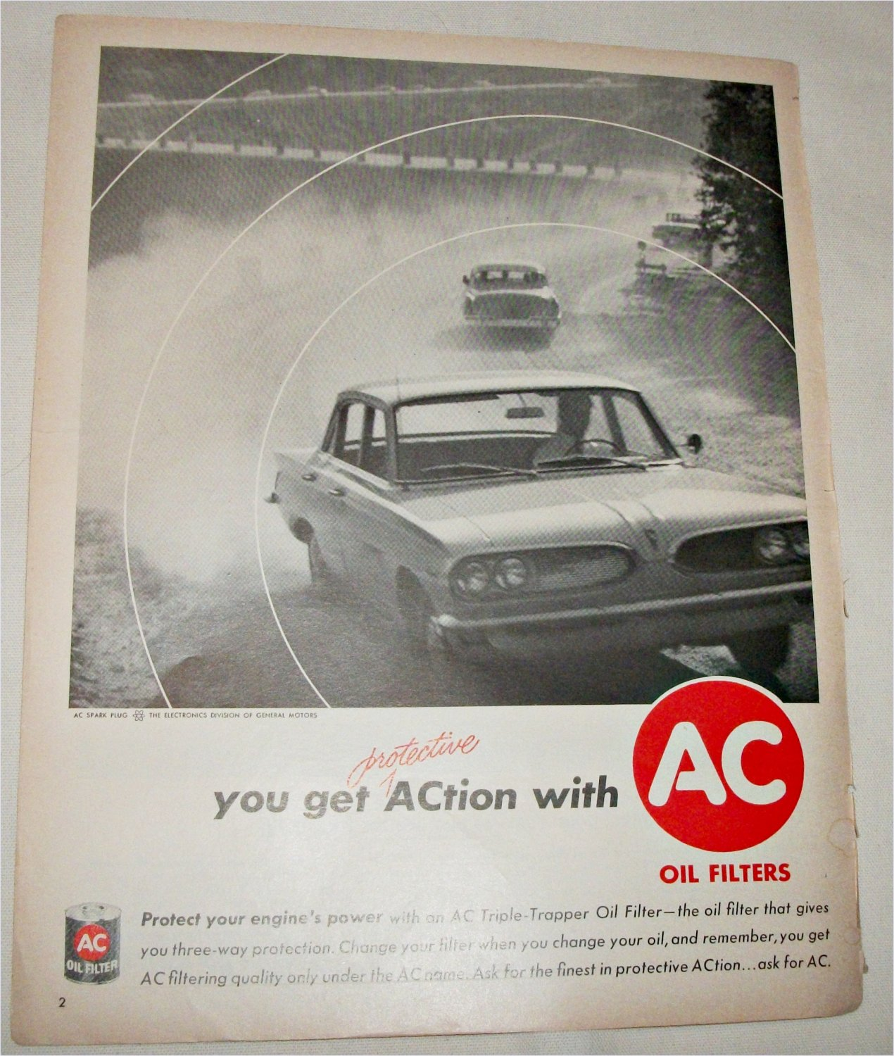 1961 AC Oil Filters ad
