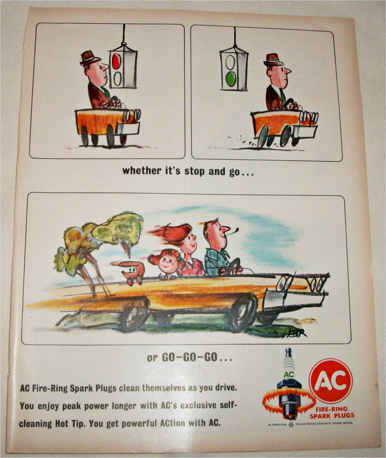 1964 AC Fire-Ring Spark Plugs ad