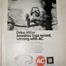 1971 AC Oil Filter ad featuring Drino Miller