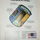 1975 AC Oil Filter ad