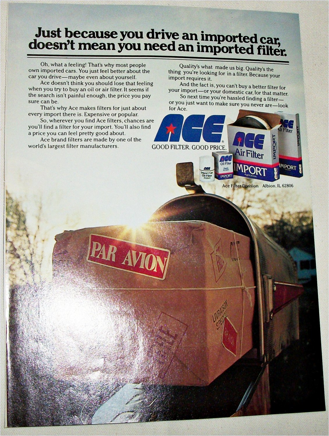 Ace Filters ad