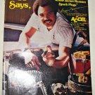 1978 Accel Spark Plugs ad featuring Reggie Jackson