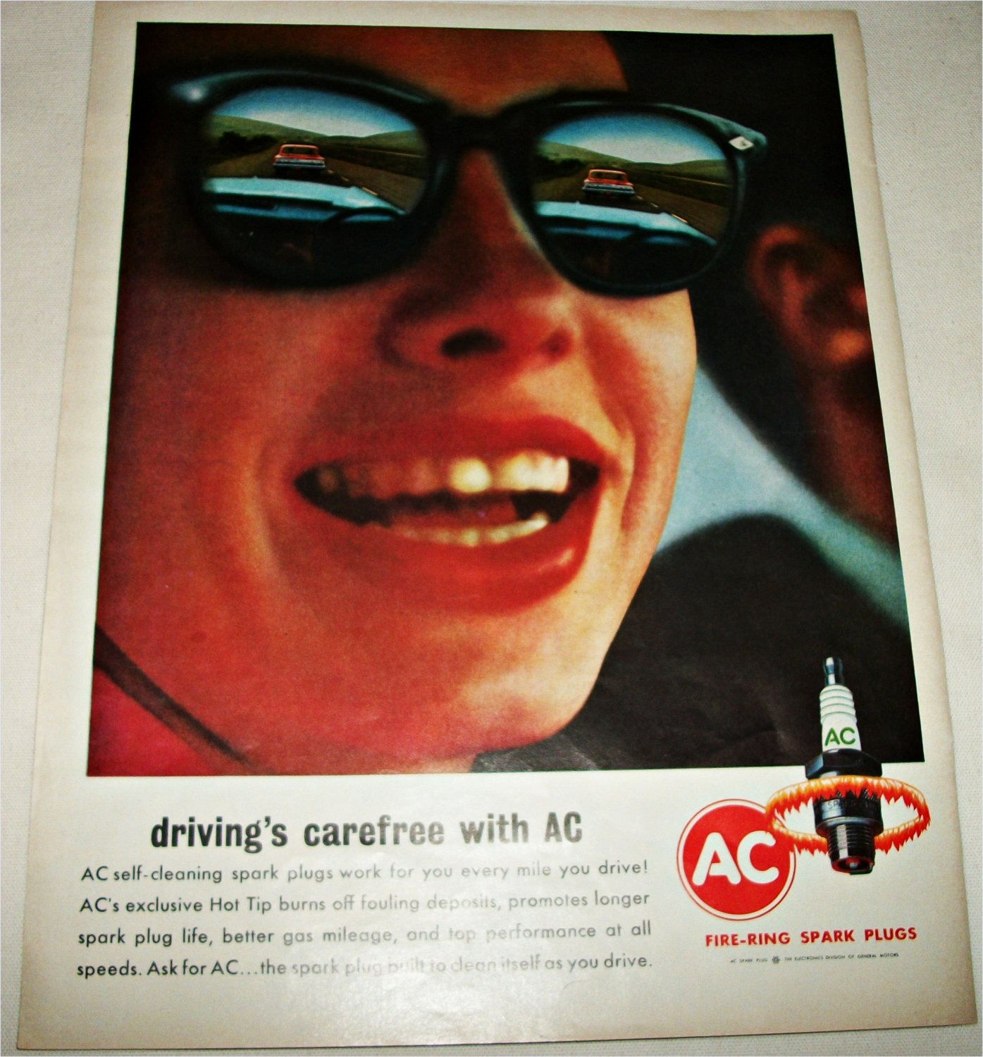 1965 AC Fire-Ring Spark Plugs ad
