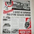 1939 Auto-Lite Spark Plugs ad