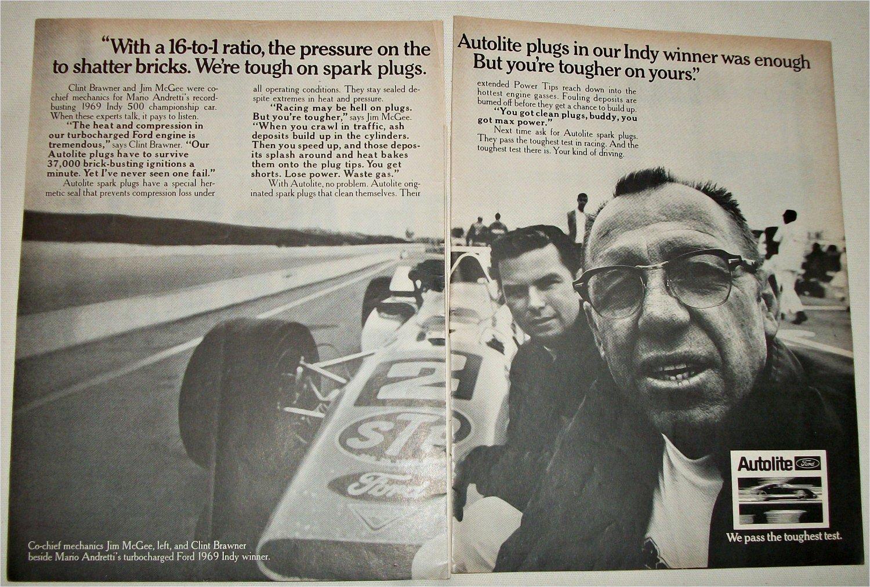 1969 Auto-Lite Spark Plugs ad