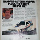 1984 Auto-Lite Spark Plugs ad featuring Frank Hawley