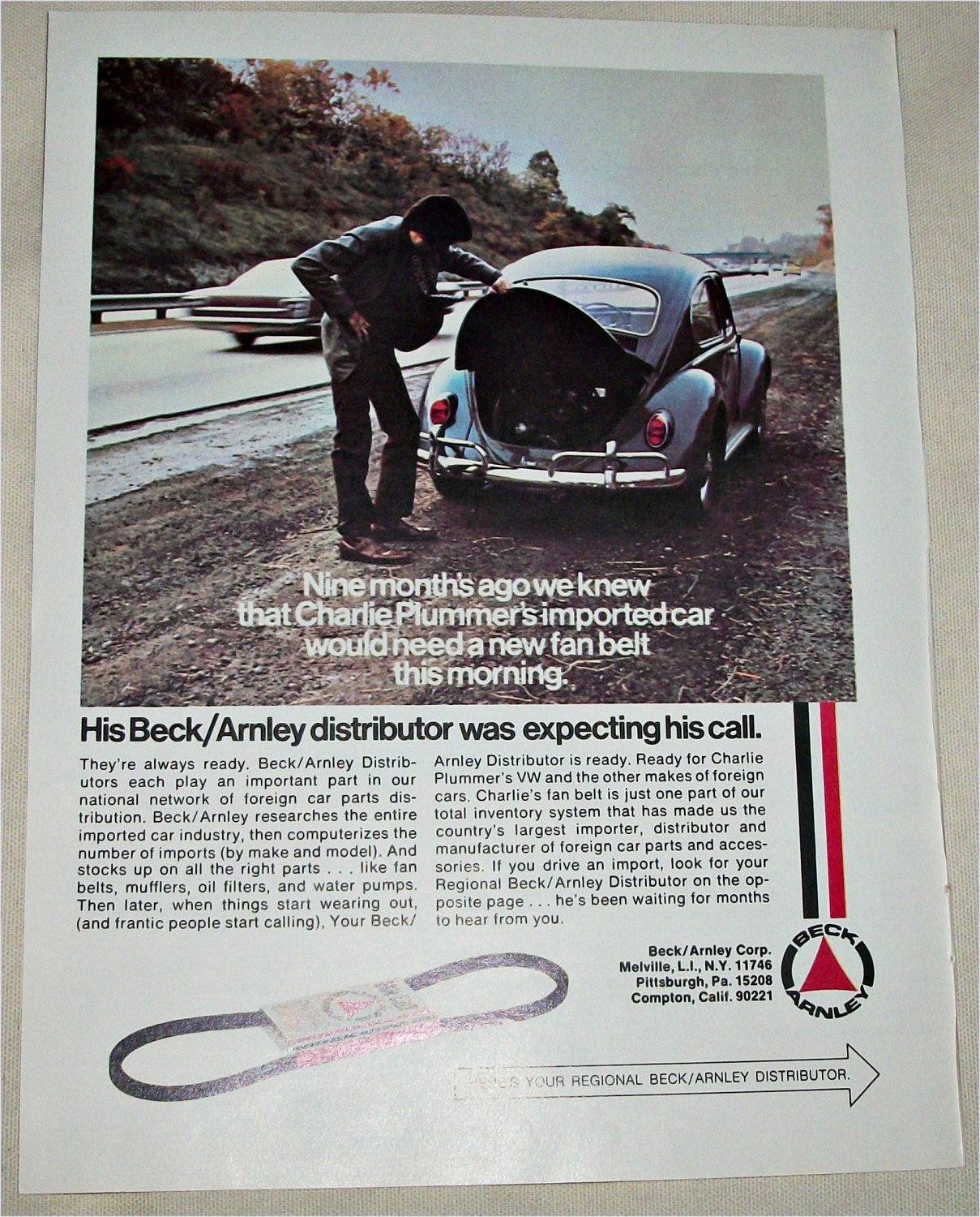 1971 Beck/Arnley Auto Parts ad