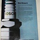 1982 Bosch Brand X Spark Plugs ad