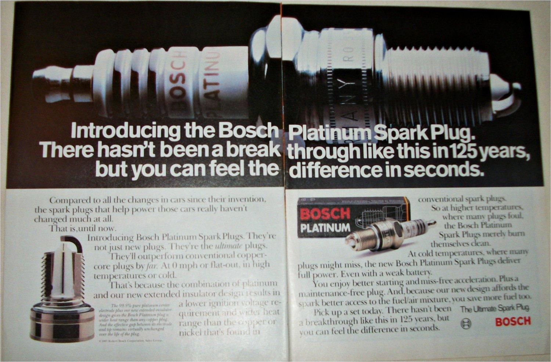 1985 Bosch Platinum Spark Plugs ad