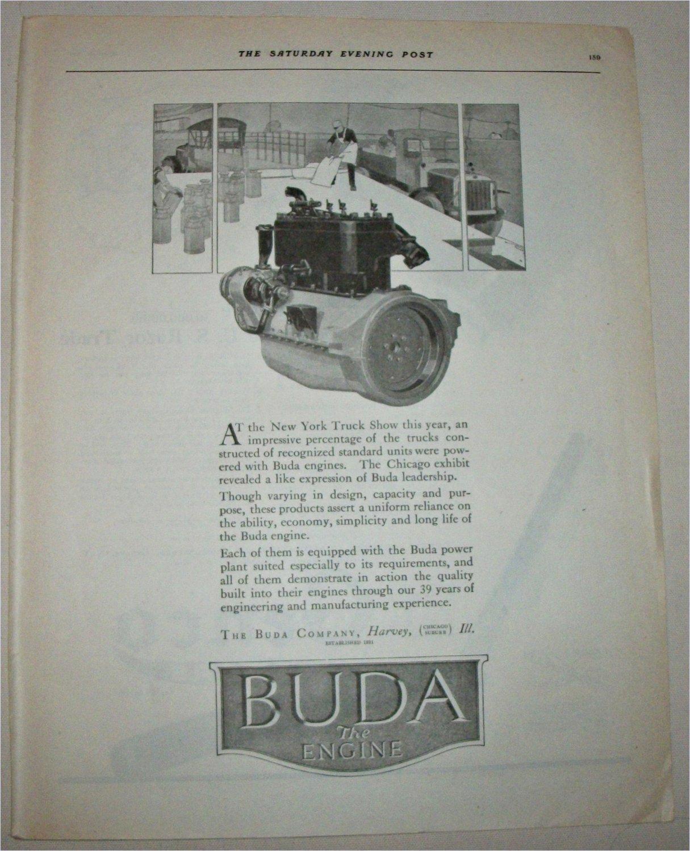 1920 Buda Truck Engines ad