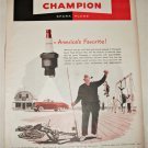 1949 Champion Spark Plugs ad