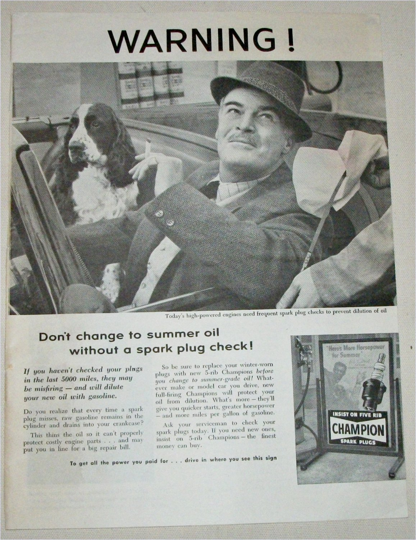 1956 Champion Spark Plugs ad #1