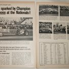 1968 Champion Spark Plugs NHRA Nationals ad