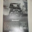 1974 Champion Spark Plugs Beware ad