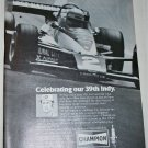 1978 Champion Spark Plugs ad featuring Al Unser