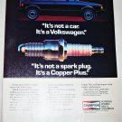 1984 Champion Spark Plugs Volkswagon ad