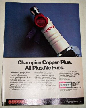 1985 Champion Copper Plus Spark Plugs ad #1