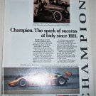 1985 Champion Spark Plugs Indy Champion ad