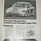 1985 Champion Copper Plus Spark Plugs Nisson Pulsar ad