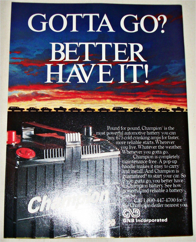 1986 Champion Battery ad