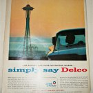 1962 Delco Car Care Space Needle ad