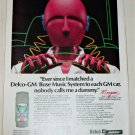 1984 Delco Bose Nobody Calls Me A Dummy ad