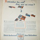 1928 Duco Auto Refinishers ad