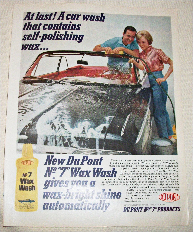 1962 Dupont No 7 Wax Wash ad