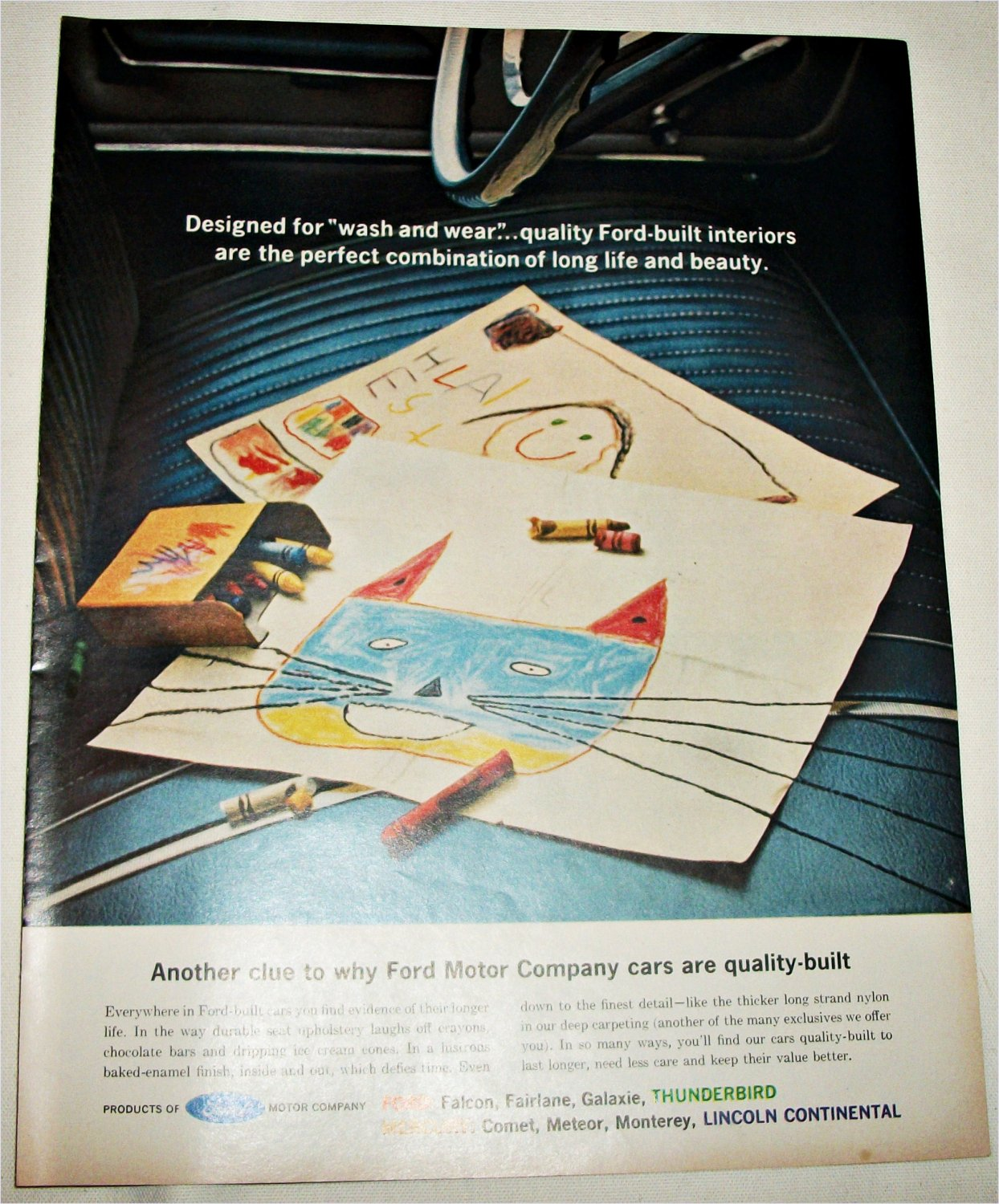 1962 Ford Quality Built Interiors ad