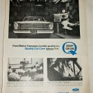 1965 Ford Quality Car Care ad #1