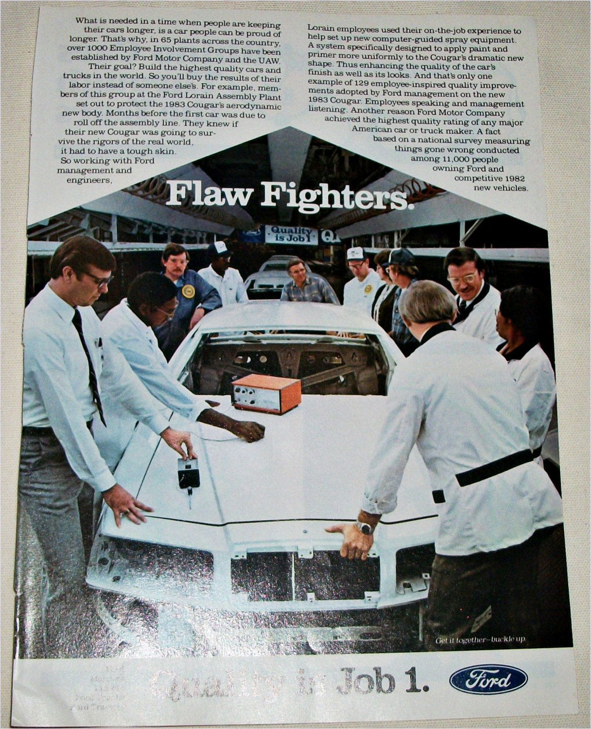 1983 Ford Quality Is Job 1 ad
