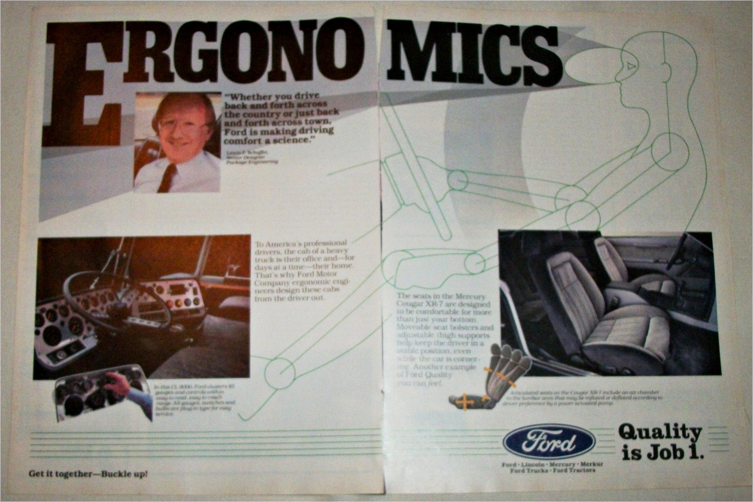 1985 Ford Quality Is Job 1 ad