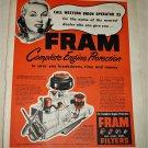 1950 Fram Filters ad