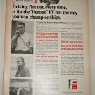 1968 Fram Filters ad featuring Mark Donohue & Roger Penske